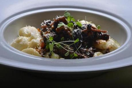 Ricotta gnocchi with braised boar.